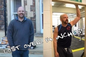 David before and after personal trainer